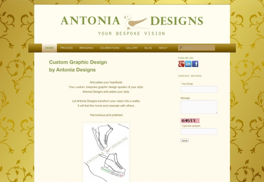 site launch antonia designs hasoptimization