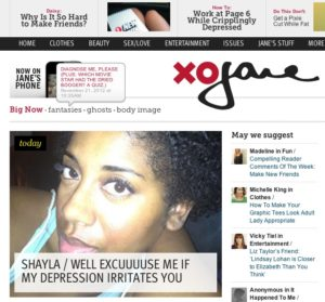 The home page of XOJane.com