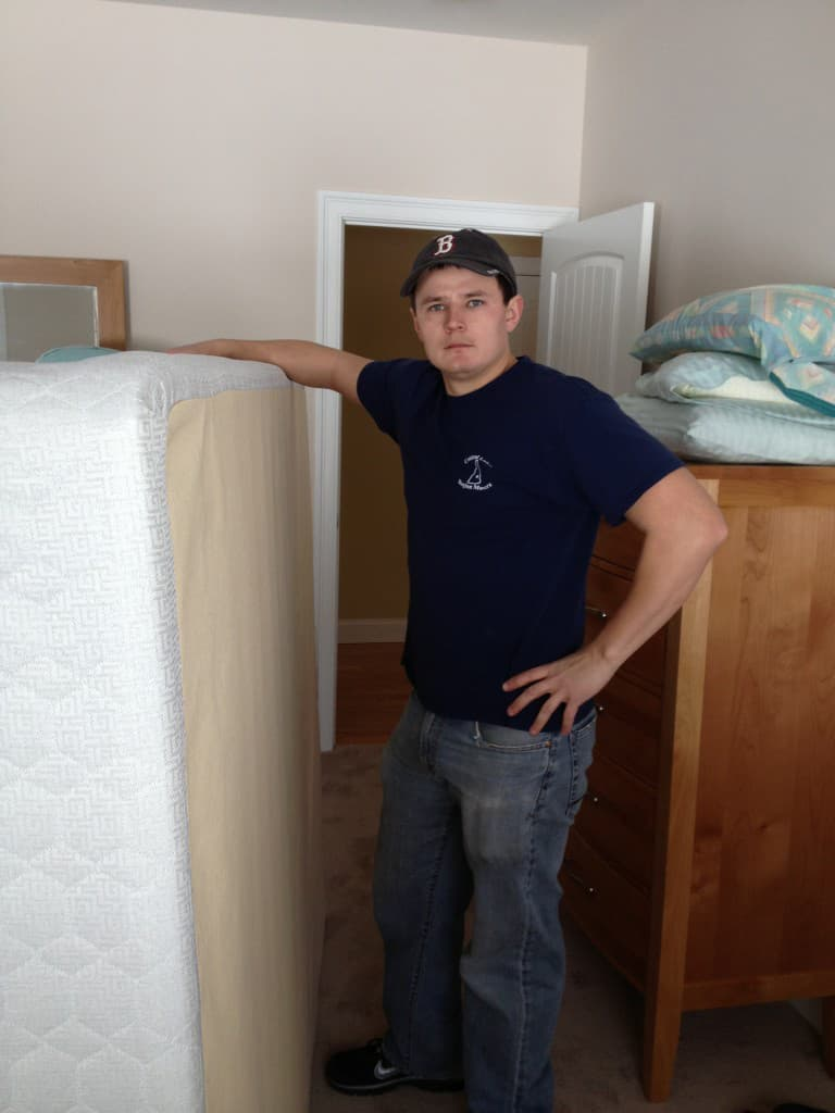 Sean Malone of CLR Movers, hard at work.