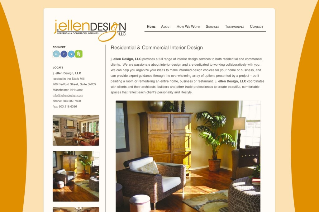 J Ellen design website