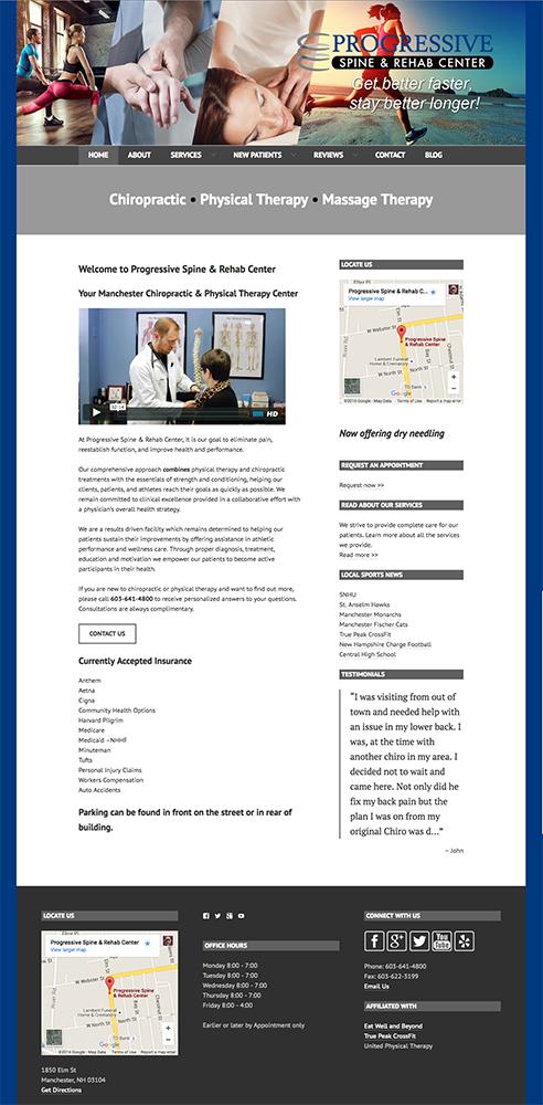 Progressive Spine & Rehab New Website