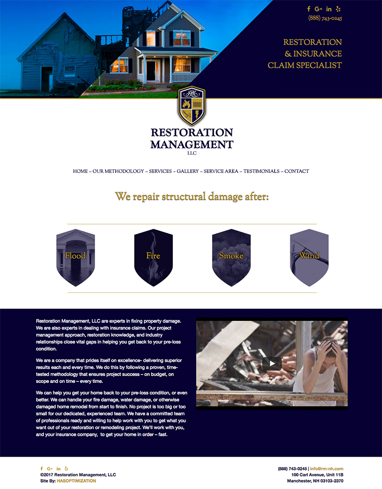 Restoration Management's New Site