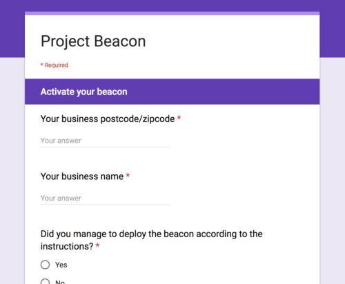 Google Beacon Setup Part 3