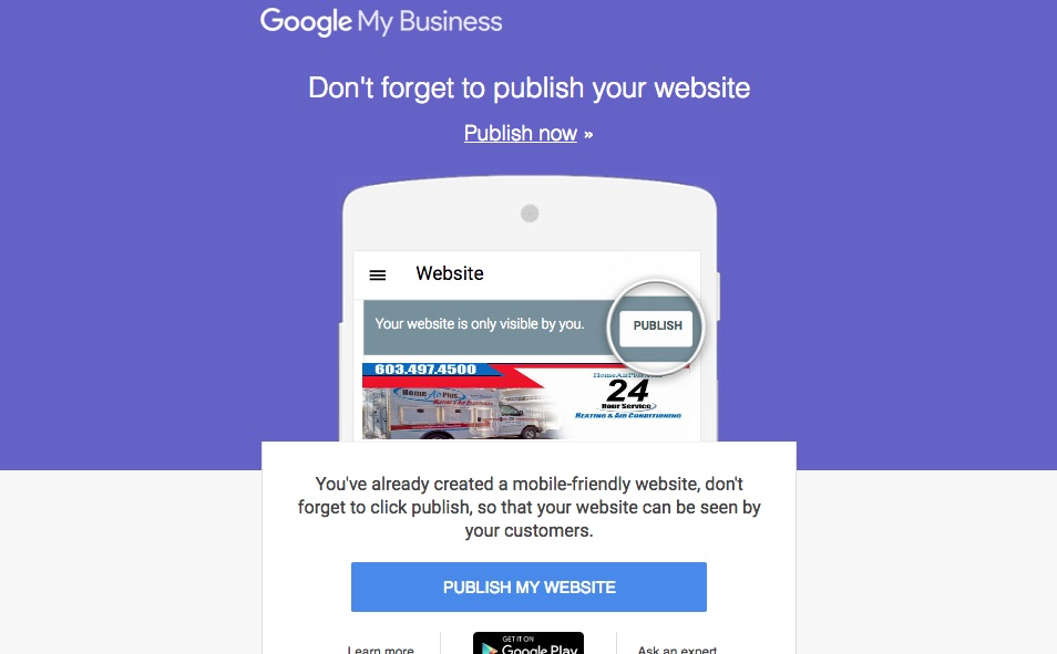 Publish your Website