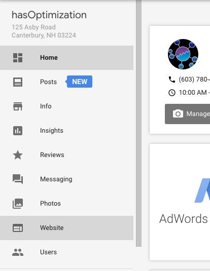 Google My Business Website