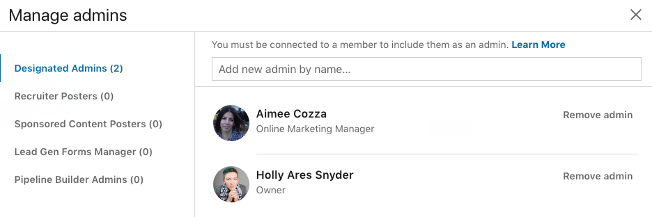 LinkedIn Admins
