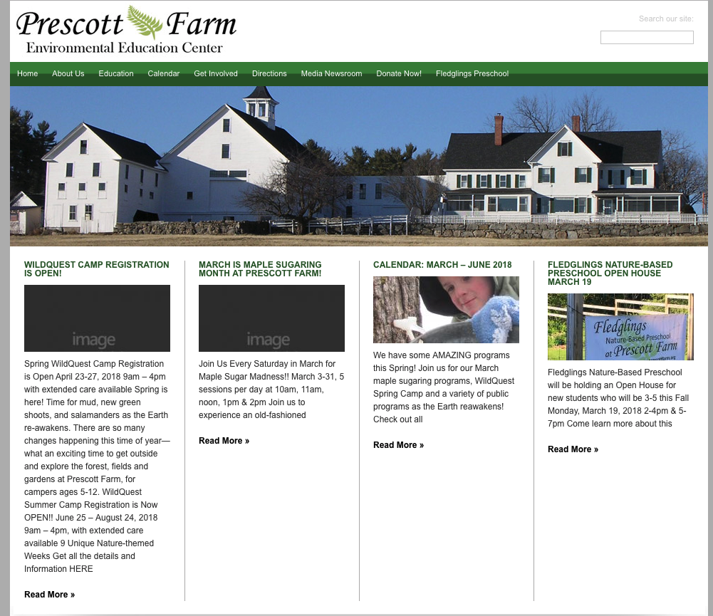 Prescott Farm's Old Site