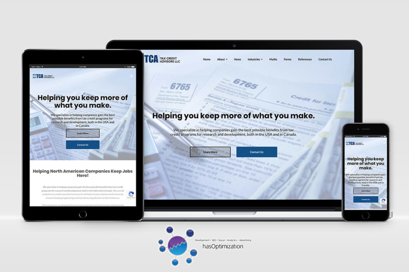 Tax Credit Advisors New Website