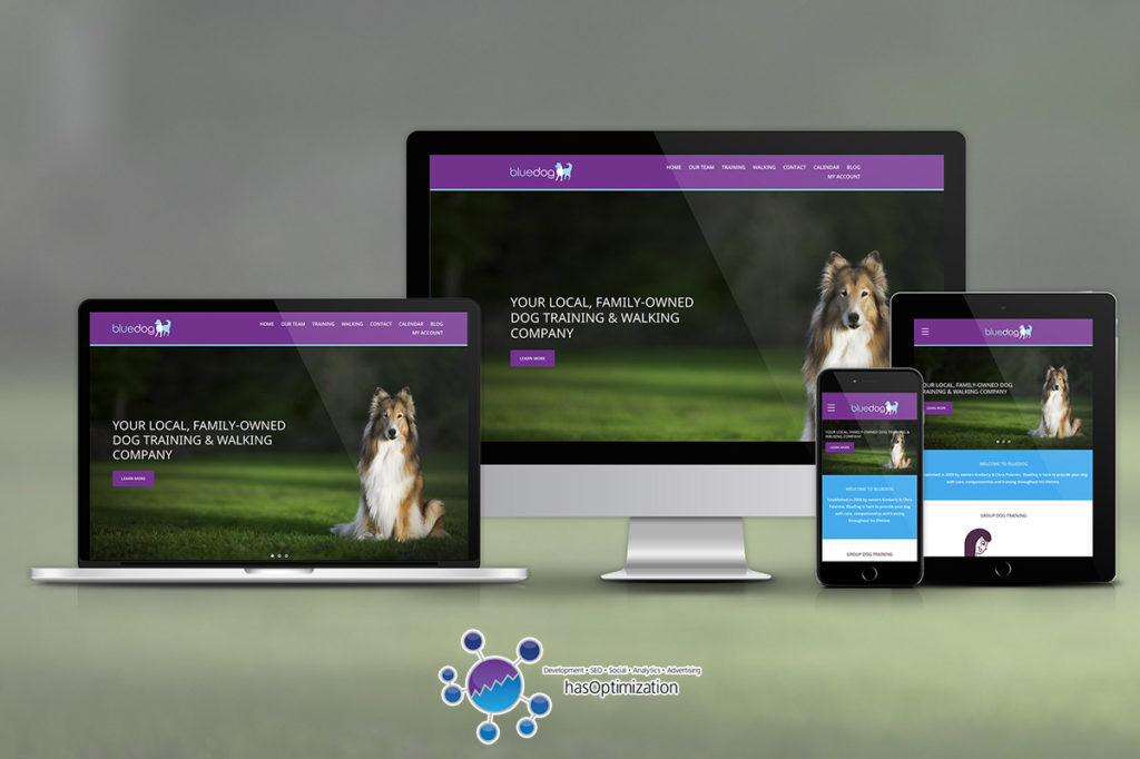 BlueDog Pet Care New Website