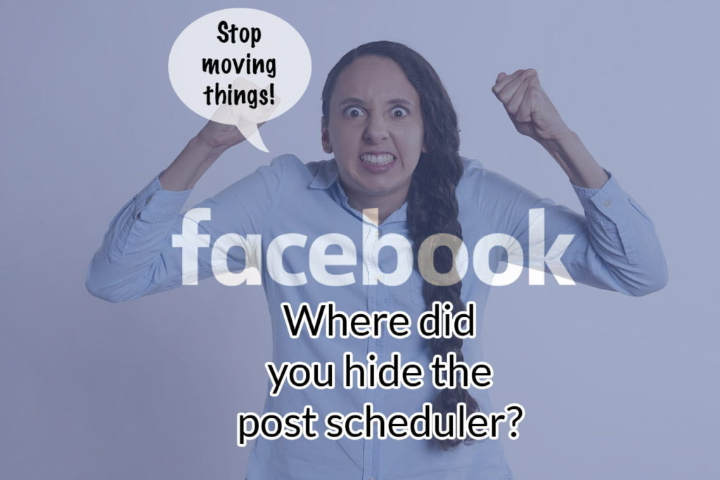Where is the Facebook post scheduler?