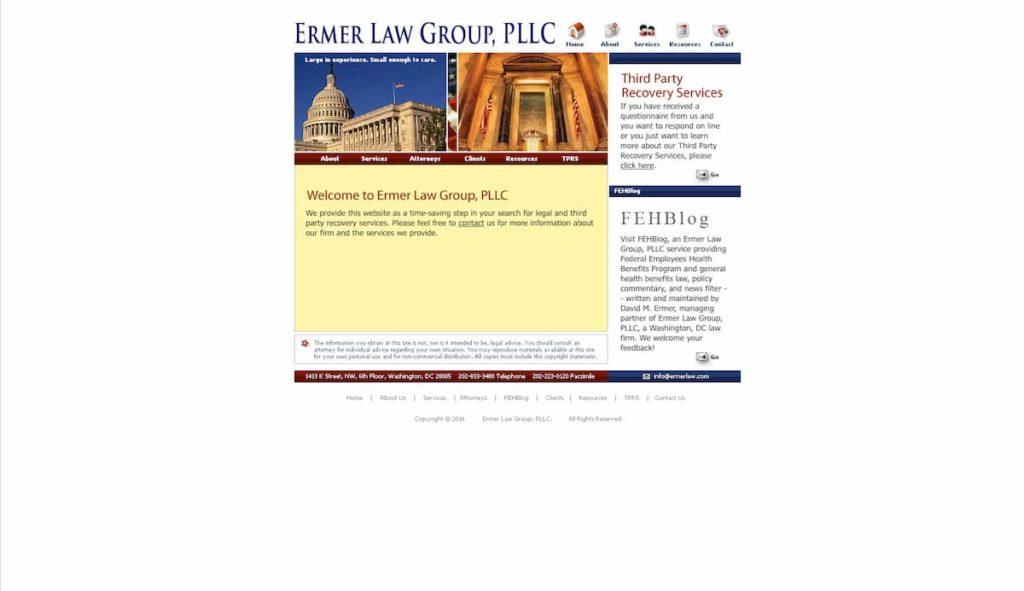 Ermer Law Group Old Website