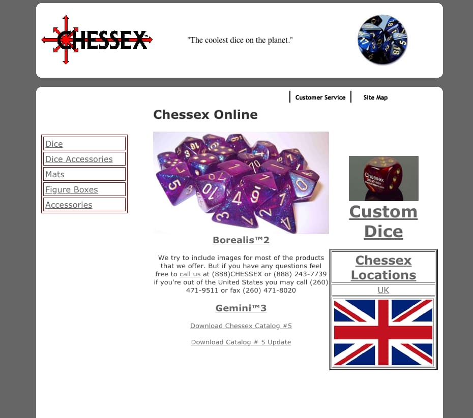 Chessex Website
