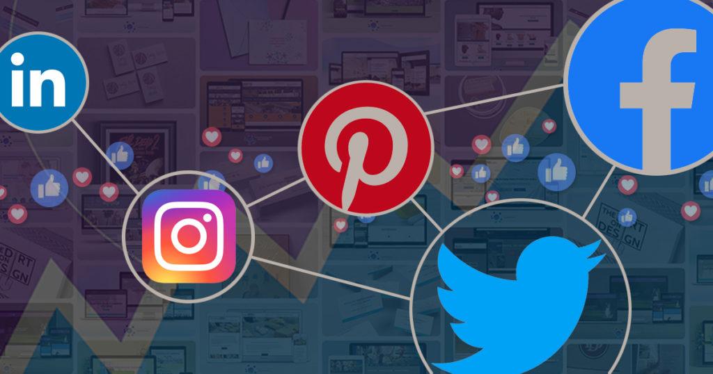 Social media icons LinkedIn, Instagram, Pinterest, Twitter, and Facebook