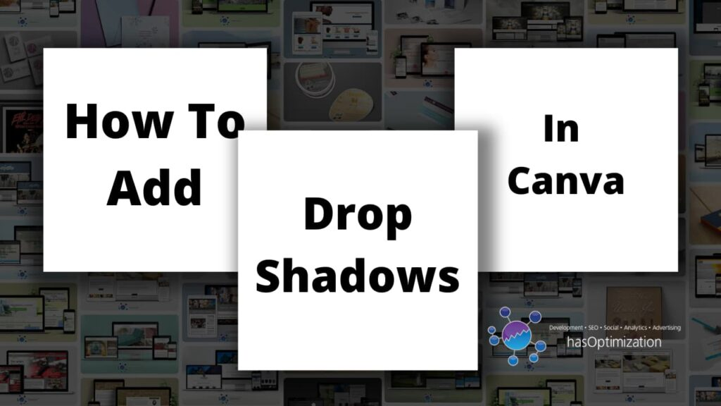 How to add drop shadows in Canva