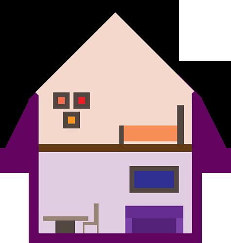 Furniture in a house