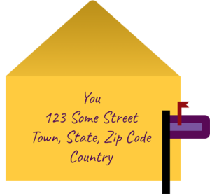 Envelope with address on it